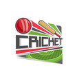 logo for cricket game vector image vector image