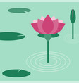 lotus flower flat vector image vector image