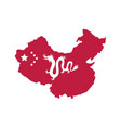 map china with flag and dragon vector image vector image