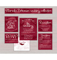 marsala printable wedding typography set of cards vector image vector image
