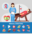 medical donations icon set vector image vector image