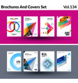 mega set of abstract templates for business vector image