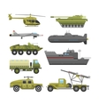 Military technic transport armor flat vector image vector image