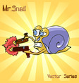 mr snail with gun vector image vector image
