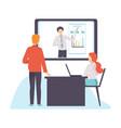 online business meeting presentation vector image