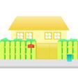 orange house cartoon vector image vector image