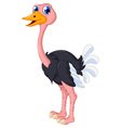 ostrich cartoon posing vector image vector image