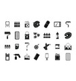 paint tools icon set simple style vector image vector image
