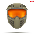 paintball mask with goggles vector image vector image