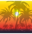 Palm silhouette background vector image vector image