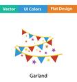 Party garland icon vector image vector image
