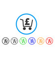 pound checkout rounded icon vector image vector image