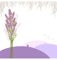 Purple Lavender Flower Greeting Card vector image vector image