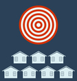 Real estate icon from Business Target concept vector image vector image