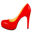 red stylish high heel woman shoe vector image