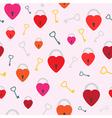 Seamless keys in heart vector image