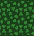 seamless pattern background of green poker suits - vector image vector image