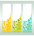 set of three abstract banners eps 10 vector image vector image
