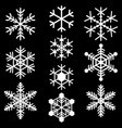snowflakes symbols icons signs simple white set vector image vector image