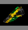 soccer football boot with the flag of jamaica vector image vector image