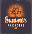 summer tropical banner with palms and sun vector image vector image