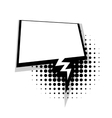 Template comic lightning speech square bubble vector image vector image