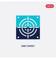 two color arm target icon from general concept vector image vector image
