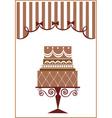 vintage cake design vector image vector image