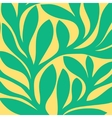 Grunge retro seamless pattern of colored leaves vector image