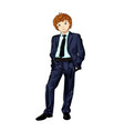 business man child vector image