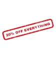 20 Percent Off Everything Rubber Stamp vector image vector image