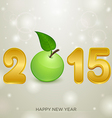 2015 apple christmas background vector image