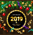 2019 new year greeting vector image vector image