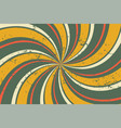 abstract grunge retro twirl spiral line pattern vector image