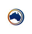 australia map template vector image vector image