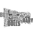 baby boy dolls text word cloud concept vector image vector image