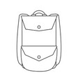 backpack travel icon image vector image vector image