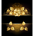 Banner with Golden Rose vector image vector image