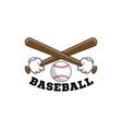 baseball logo emblem baseball tournament on vector image
