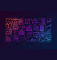 business data analytics colorful vector image