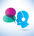 call center concept vector image
