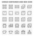 cargo container icon vector image vector image