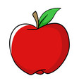 cartoon of an apple vector image vector image