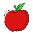 cartoon of an apple vector image vector image