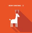 christmas deer modern flat design style vector image vector image
