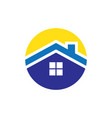 circle rohousing logo vector image vector image