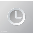 Clock Flat Icon Design vector image