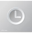 Clock Flat Icon Design vector image vector image