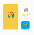 curtain company logo app icon and splash page vector image