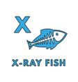 cute cartoon animals alphabet x-ray fish